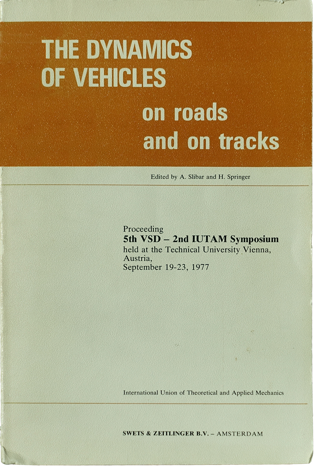 Cover of 1977 IAVSD proceedings